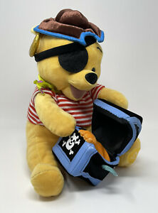 "Walt Disney Store Winnie the Pooh Pirate Plush with Chest 11"" Stuffed Animal"