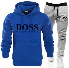 Boss1 Herren Trainingsanzug Set Hoodie Trainingshose Bottoms Jogging Sporthose+