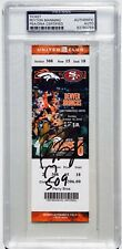 PEYTON MANNING SIGNED DENVER BRONCOS TOUCHDOWN RECORD FOOTBALL TICKET PSA/DNA