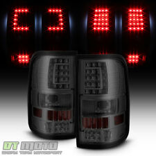 Smoked 2004-2008 Ford F150 F150 [C-Shape] LED Tail Lights Brake Lamps Left+Right