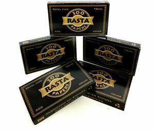 Rasta 300 Negro 10 Libritos  papel fino tamaño normal tipo Smoking Ocb Premiun