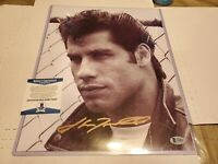 John Travolta Grease Autograph Signed Photo  11x14  BECKETT CERTIFICATE  BAS COA