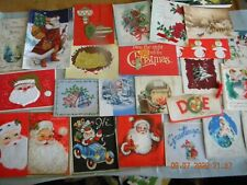 Lot Of 24 Vintage Christmas Cards - Santa/Snowmen/Bells/Deer/ Ornaments And More