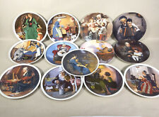 Norman Rockwell Decorative Collector Plates Lot Of 13 Limited Edition