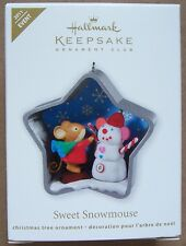 Hallmark 2011 Sweet Snowmouse Event Ornament Signed by Artist NIB