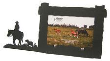 "Horseback Rider Horse & Dog Picture Frame 4""x6"" H"