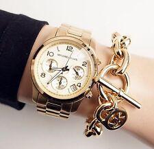 Original Michael Kors reloj fantastico mk5055 Runway color: oro nuevo