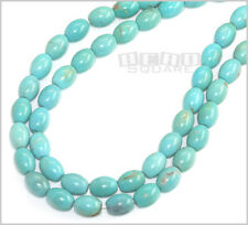 "15.5"" Blue Green Chinese Turquoise Oval Beads #25059"