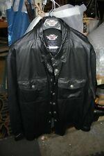 Harley leather jacket shirt size XXL riding motorcycle Harley-Davidson EPS22653