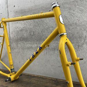 Trek Frame Set Vintage MTB 800 Antelope 1980s  Steel Yellow  120 mm 21 in 23 in