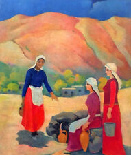 ARMENIA FOLK TRADITIONAL social realism Art Painting RUSSIAN- ARMENIAN Artist KH