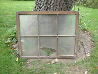 Vintage Farmhouse old wood window sash 6 pane picture frame 31 1/2 x 40 inches