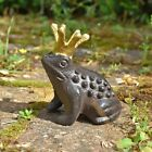 Frog Prince Garden Animal Ornament Cast Iron Outdoor Statue Decoration