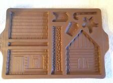 Longaberger Pottery 1996 Gingerbread Country Cabin Mold Item 33090