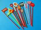 16, New Plastic Cocktail Swizzle Stick Stirrers COLLECTORS Pack. All Different.