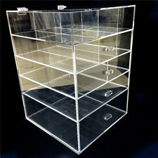 2015 Large Elegant Jewelry Makeup Clear Acrylic Storage 5 Drawers Organizer Box