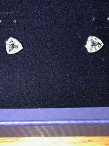 Swarovski White crystal earrings Triangle shape article 5303847