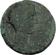 AUGUSTUS 27BC Thessaly Koinon ATHENA Authentic Ancient Roman Coin RARE i47243