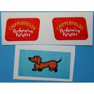 ** DEC277 - 511 - Autocollants Impala Chipperfield Chiens -Corgi Toys