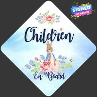 Non Personalised Child/Baby On Board Car Sign ~ Peter Rabbit Children On Board