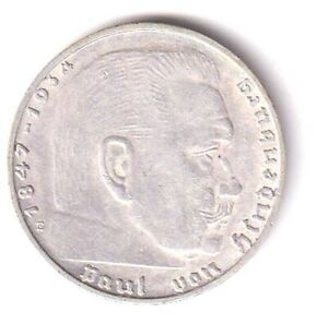 GERMANY SILVER 2 REICHSMARK 1939E **RARE LOW MINTAGE HIGH GRADE**