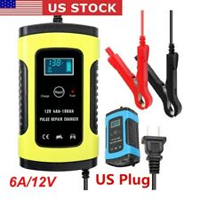 12v 6a Car Battery Charger Auto Jump Starter Power Bank Booster Maintainer