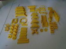 Lego Lot of 57 Pieces City Building Plate Yellow Various Sizes  Bridges Rails