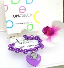 BRACCIALE RESINA OPS! OBJECTS LOVE CUORE SILICONE VIOLA AMETISTA OPSBR-04