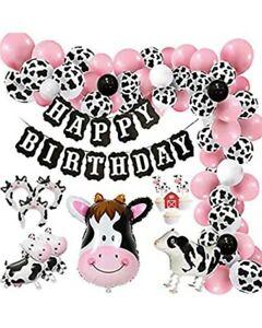 Farm Birthday Party Decor Farm Decor Cow Spots Decorations Balloon Garland Cow Balloon Barnyard Happy Birthday Kit Farm Party Decor
