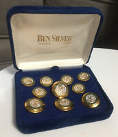 Vintage Gold Plated Dartmouth University 10 Blazer Buttons Set Ben Silver Co.