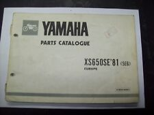 Catalogo ricambi originale Yamaha XS 650 SE 1981