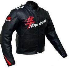 Hayabusa Suzuki Cowhide Leather Motorcycle Motorbike Racing Jackets Biker jacket
