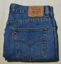Levis 504 Jeans Size 36 L 30 Men's Regular Straight Zip Fly Blue Denim EUC