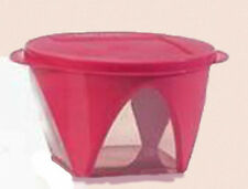 New Tupperware Clear Impressions 1.5l Bowl - Fuchsia