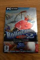 Rollercoaster Tycoon 2 Deluxe Edition PC Time Twister Wacky Worlds Free P&P