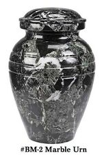 Adult Funeral Cremation Urn made from a block of Solid Black Marble, 205 Inches