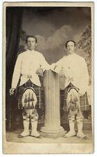 Photo cdv - 2 écossais à Gibraltar - scottish brothers Espana Maroc 1870