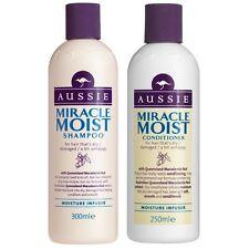 DUO Aussie Miracle Moist Dry/Damaged Hair Shampoo 300ml + Conditioner 250ml