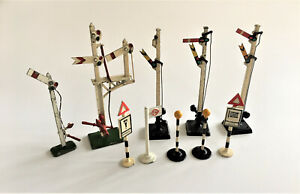 Mixed Cast Metal Railway Signs & Signals, (Hornby, Dinky Meccano, Crescent)