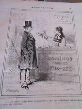 Caricature 1876 Location de Costumes Dominos masques Faux Nez