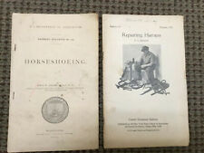 Horseshoeing And Repairing Harness, 2 Antique Farm Agriculture Pamphlets