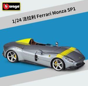 Bburago 1:24 Ferrari Monza SP1 Metal Die cast Model Car Supersports New in Box