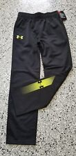 New Under Armour Kids Boys Black Sweatpants Long Pants with Pockets Size: 5