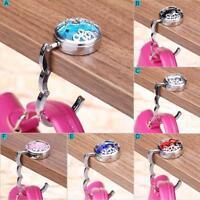 Lady Faceted Crystal Table Folding Bag Purse Handbag Hook Hanger Holder Animal