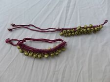 Bellydance Middle East Ankle Bells Purple-ish Costume Gypsy