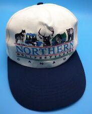 NORTHERN LIFESTYLES / CANADA white / blue adjustable cap / hat - 100% cotton