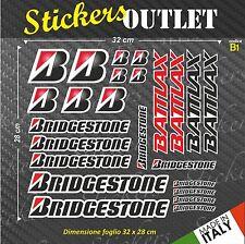 Set Adesivi Stickers BRIDGESTONE Varie Misure