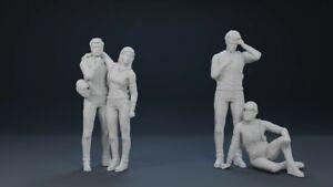 Fantastic Voyage Proteus 3D Printed 4 Figure Final Scene Set 1/32 1/35 scale