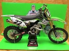 NEW RAY MODELLINO MOTO CROSS KAWASAKI KX 450 F CHAD REED SCALA 1:6 MODEL BIKE