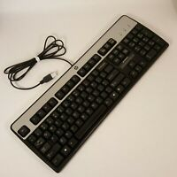 Genuine HP Keyboard Black Model KU-0316 USB Wired 537746-001 Tested Working